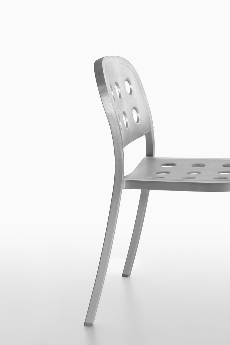 Emeco 1 Inch All Aluminum Stacking Chair by Jasper Morrison, 1stdibs Exclusive For Sale 2