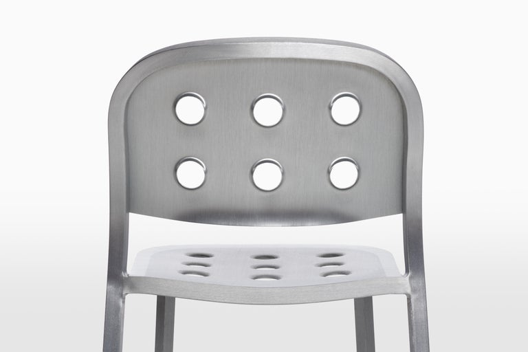 Emeco 1 Inch All Aluminum Stacking Chair by Jasper Morrison, 1stdibs Exclusive For Sale 3