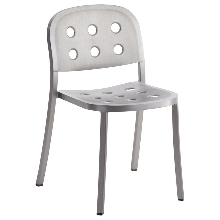 Emeco 1 Inch All Aluminum Stacking Chair by Jasper Morrison, 1stdibs Exclusive For Sale