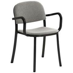 Emeco 1 Inch Armchair in Grey Upholstery & Black Frame by Jasper Morrison