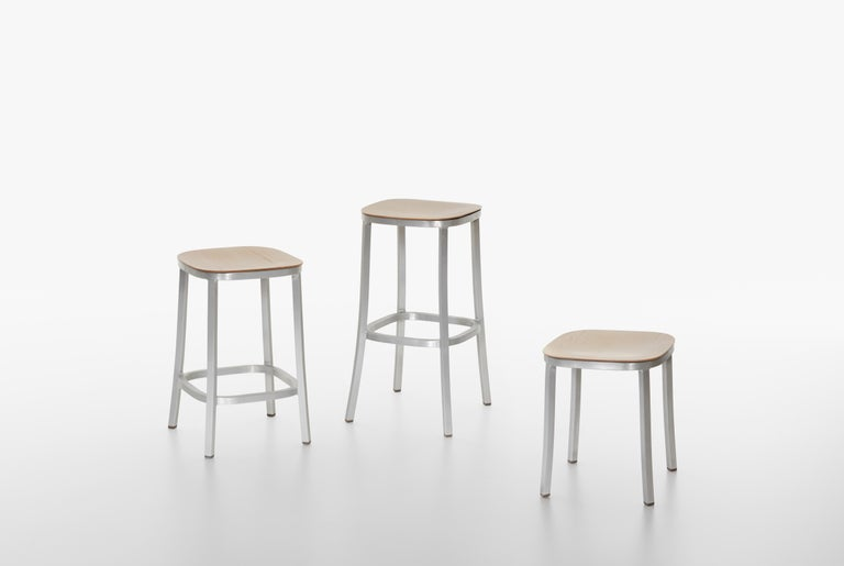 Stupendous Emeco 1 Inch Barstool In Dark Aluminum And Bordeaux By Jasper Morrison Andrewgaddart Wooden Chair Designs For Living Room Andrewgaddartcom