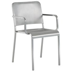 Emeco 20-06 Armchair in Brushed Aluminum by Norman Foster