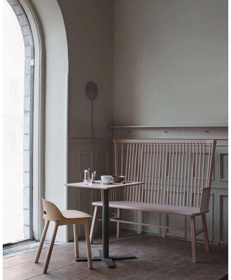 Wood Emeco Alfi Chair in Sand and Dark Ash with High Back by Jasper Morrison For Sale
