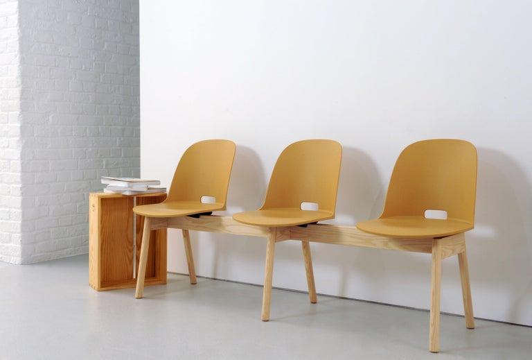 American Emeco Alfi Chair in Sand and Dark Ash with Low Back by Jasper Morrison For Sale