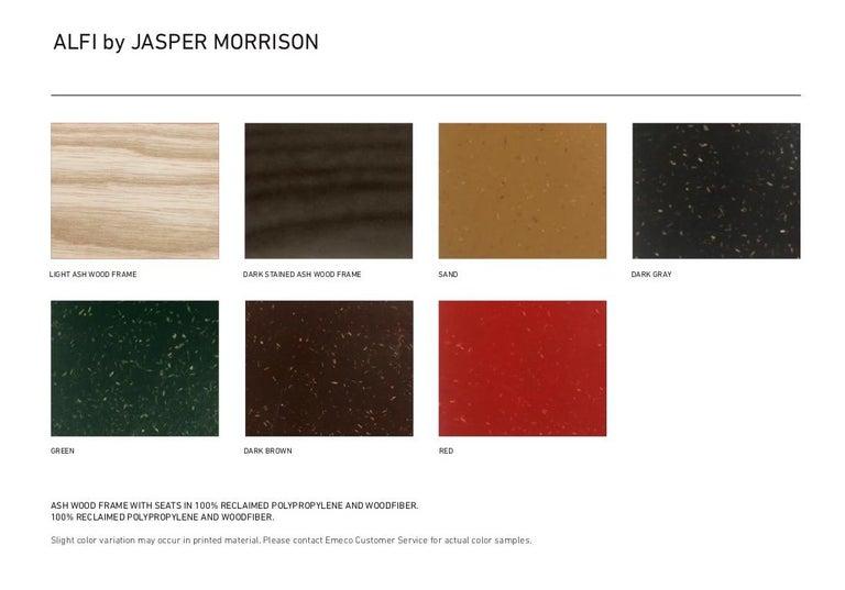 Emeco Alfi Counter Stool in Sand & Dark Ash w/ Low Back by Jasper Morrison  For Sale 3