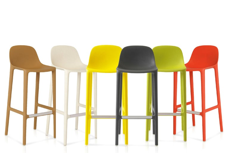 American Emeco Broom Barstool in Yellow by Philippe Starck  For Sale