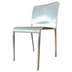 Emeco Brushed Aluminum Stacking Chair by Norman Foster