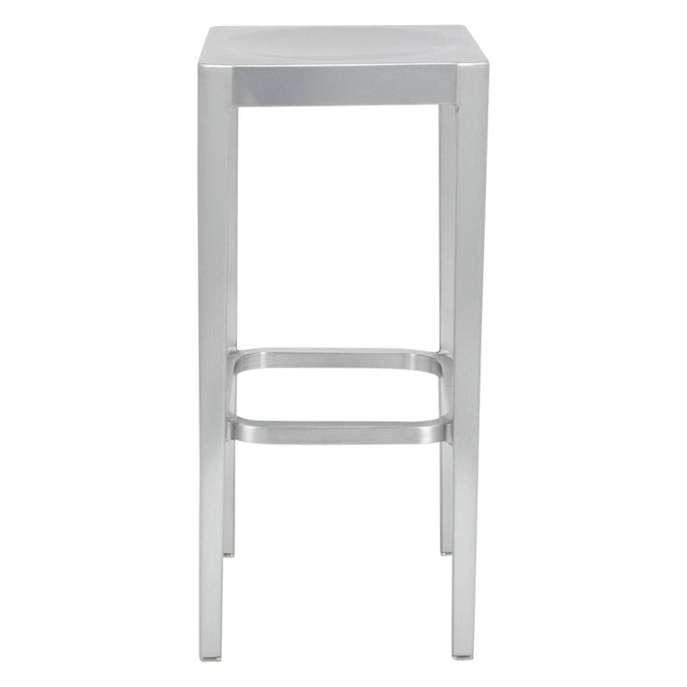 Emeco Counter Stool in Brushed Aluminum by Philippe Starck For Sale