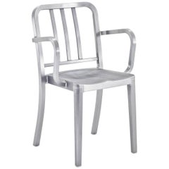 Emeco Heritage Armchair in Brushed Aluminum by Philippe Starck
