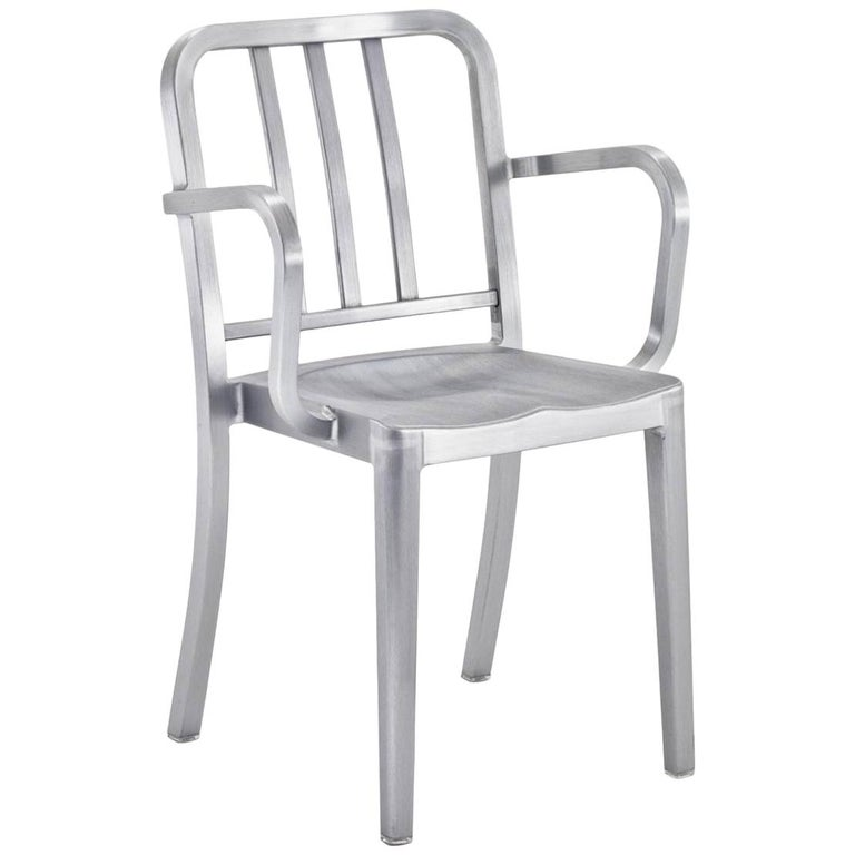 Emeco Heritage Armchair in Brushed Aluminum by Philippe Starck For Sale