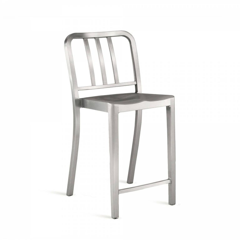 "Heritage is a stacking chair designed by Philippe Starck, inspired by the original 1006 Navy.The rocking version was designed for the world famous Bon restaurant in Paris. Intended as a ""sit up"" chair for working and dining, it's a symbol of Emeco's"