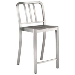 Emeco Heritage Counter Stool in Brushed Aluminum by Philippe Starck