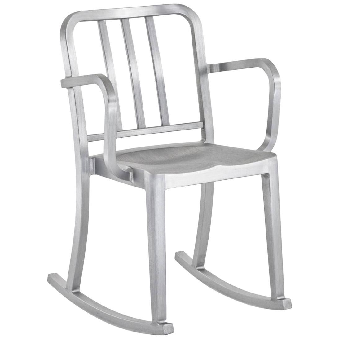 Emeco Heritage Rocking Armchair in Brushed Aluminum by Philippe Starck