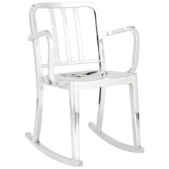 Emeco Heritage Rocking Armchair in Polished Aluminum by Philippe Starck