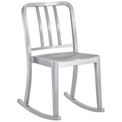 Emeco Heritage Rocking Chair in Brushed Aluminium by Philippe Starck