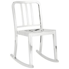 Emeco Heritage Rocking Chair in Polished Aluminum by Philippe Starck