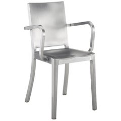 Emeco Hudson Armchair in Brushed Aluminum by Philippe Starck