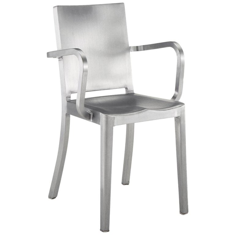 Emeco Hudson Armchair in Brushed Aluminum by Philippe Starck For Sale