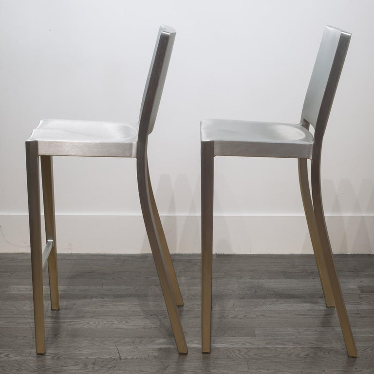 Modern Emeco Hudson Bar Stools by Philippe Starck For Sale