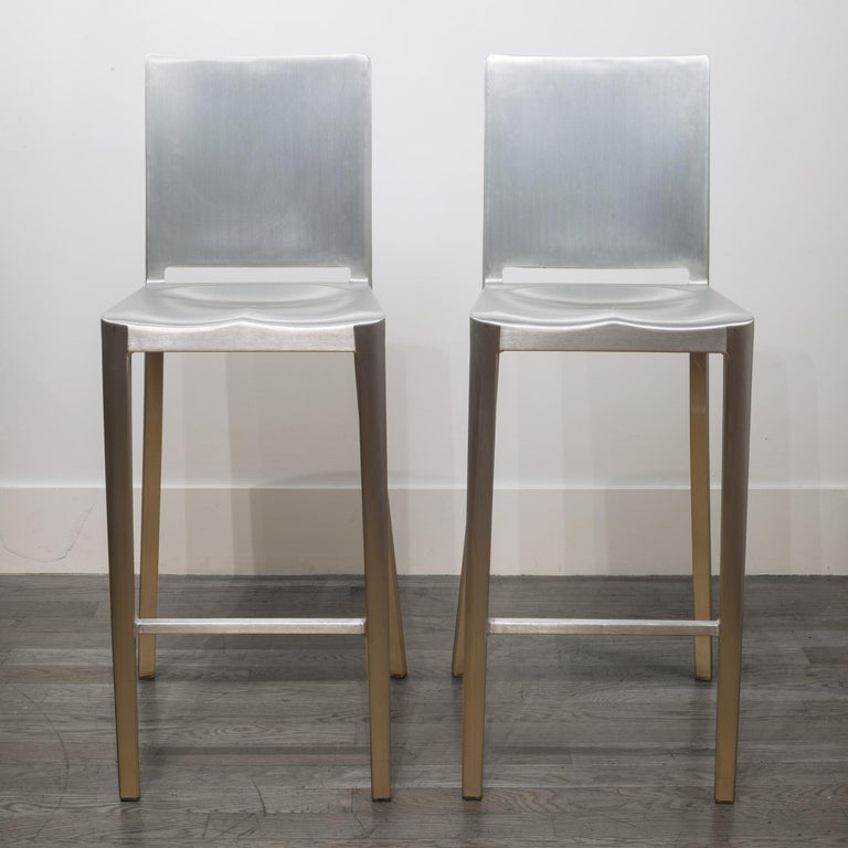 Contemporary Emeco Hudson Bar Stools by Philippe Starck For Sale