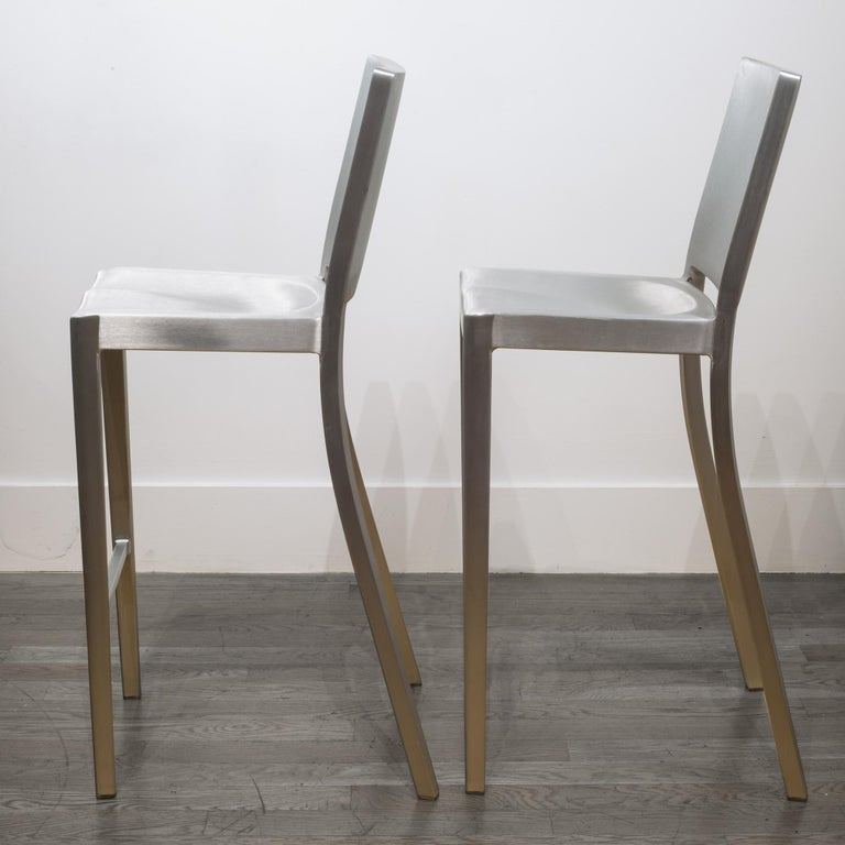 Aluminum Emeco Hudson Bar Stools by Philippe Starck For Sale