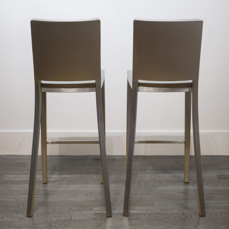 Emeco Hudson Bar Stools by Philippe Starck For Sale 1