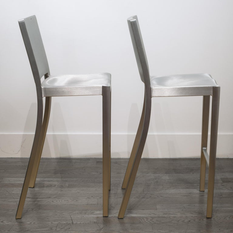 Emeco Hudson Bar Stools by Philippe Starck For Sale 2