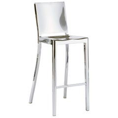 Emeco Hudson Barstool in Polished Aluminum by Philippe Starck