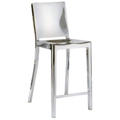 Emeco Hudson Counter Stool in Polished Aluminum by Philippe Starck