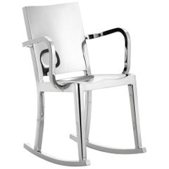 Emeco Hudson Rocking Chair with Arms in Polished Aluminum by Philippe Starck