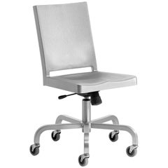 Emeco Hudson Swivel Chair in Brushed Aluminum by Philippe Starck