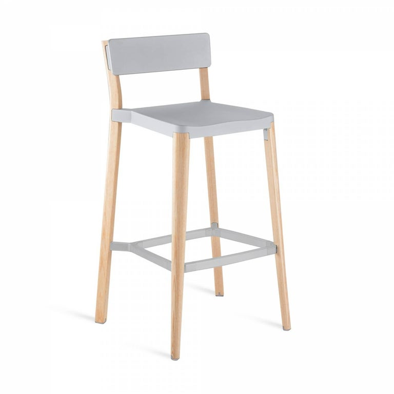 Our clients have asked us to utilize wood in our designs for years. Lancaster features a re-claimed, solid ash frame and recycled die-cast aluminum seat and back- an expression of industrial technique and warm materials.  Made of: Recycled
