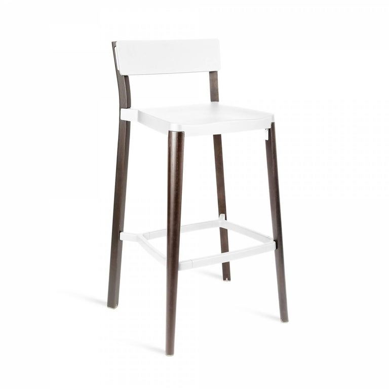 Our clients have asked us to utilize wood in our designs for years. Lancaster features a reclaimed, solid ash frame and recycled die-cast aluminum seat and back- an expression of industrial technique and warm materials.