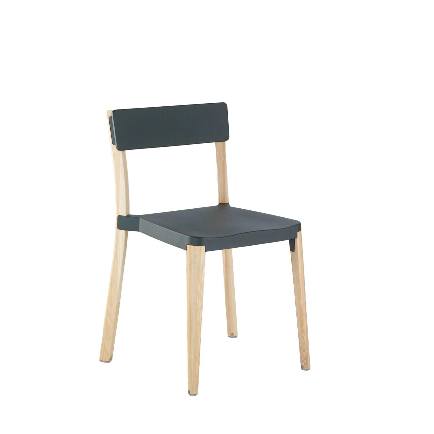 Emeco Lancaster Chair in Dark Gray Aluminum and Ash by Michael Young