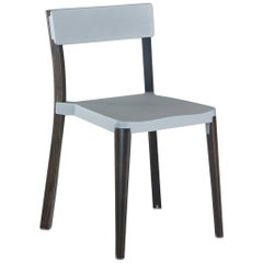 Emeco Lancaster Chair in Light Gray Aluminium and Dark Ash by Michael Young