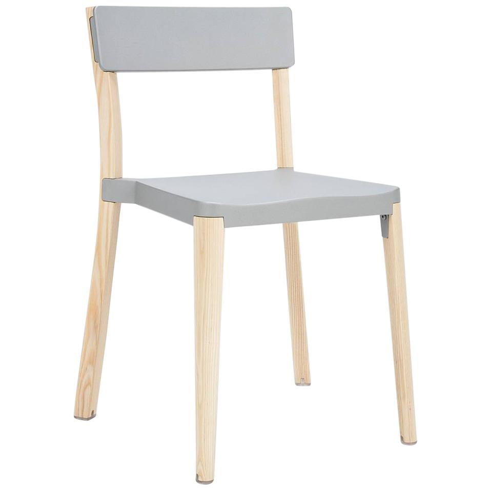 Emeco Lancaster Chair in Light Gray Aluminum and Ash by Michael Young