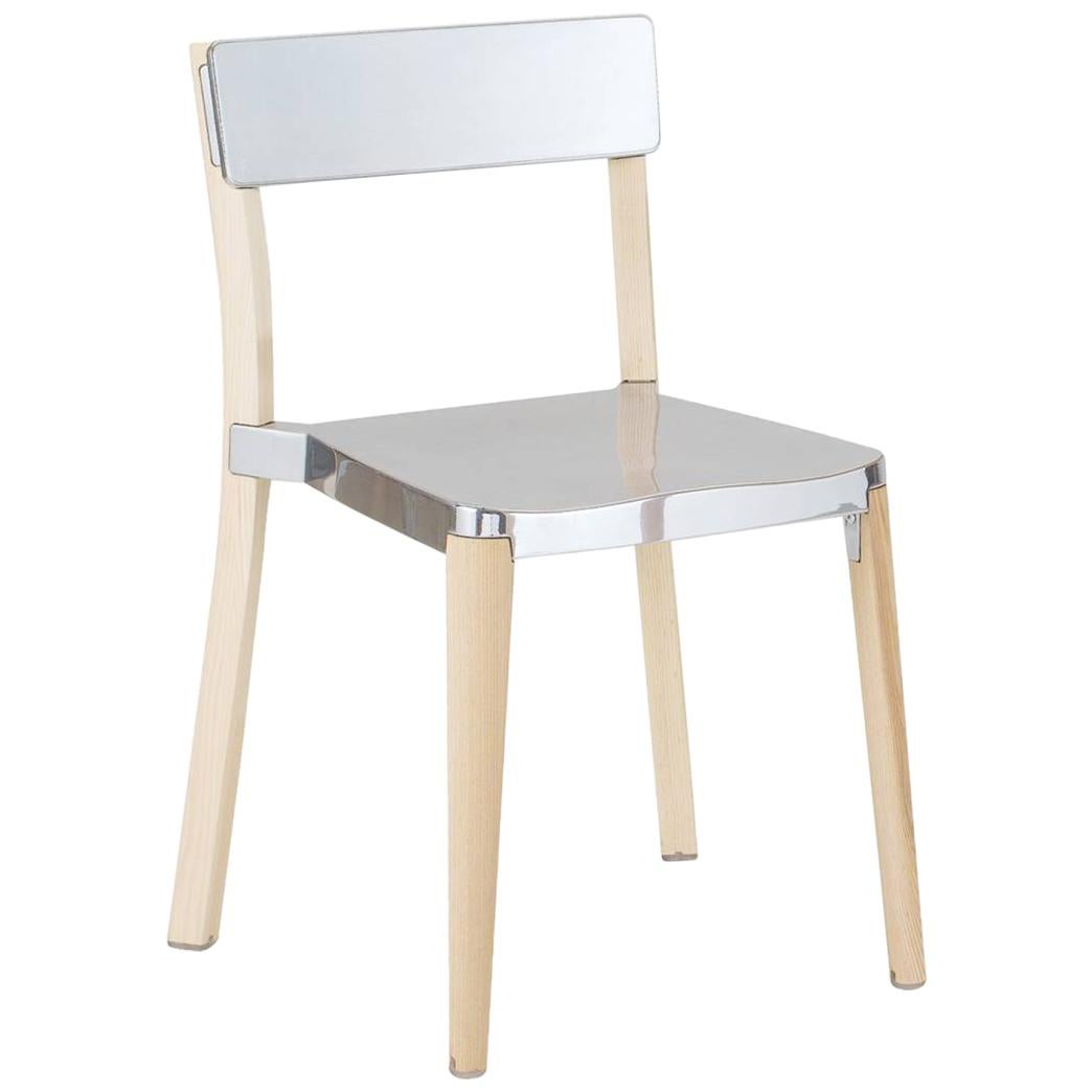Emeco Lancaster Chair in Polished Aluminum and Ash by Michael Young
