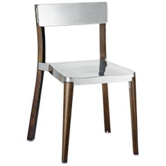 Emeco Lancaster Chair in Polished Aluminum and Dark Ash by Michael Young
