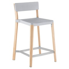 Emeco Lancaster Counter Stool in Light Aluminum and Ash by Michael Young