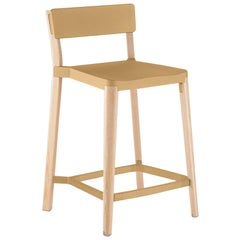 Emeco Lancaster Counter Stool in Sand Aluminum & Ash by Michael Young