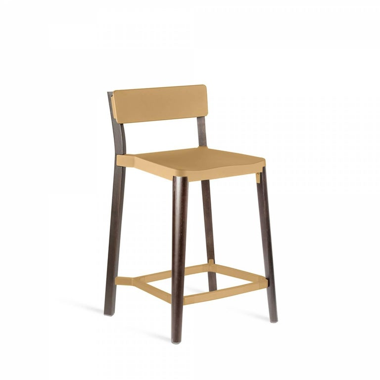 Our clients have asked us to utilize wood in our designs for years. Lancaster features a reclaimed, solid ash frame and recycled die-cast aluminum seat and back- an expression of industrial technique and warm materials.  Made of: Recycled