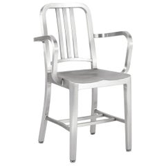 Emeco Navy® Armchair in Brushed Aluminum by US Navy
