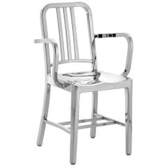 Emeco Navy Armchair in Polished Aluminum by US Navy