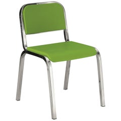 Emeco Nine-0 Chair in Polished Aluminum and Green by Ettore Sottsass