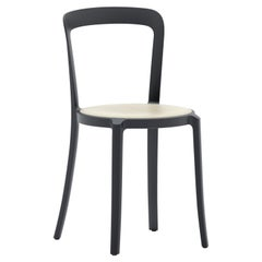Emeco On & On Stacking Chair in Black with Ash Plywood seat by Barber & Osgerby