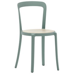 Emeco On & On Stacking Chair in Light Blue with Oak seat by Barber & Osgerby