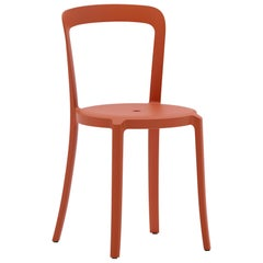 Emeco On & On Stacking Chair in Orange Plastic by Barber & Osgerby
