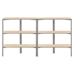 Emeco Run Shelf in Accoya with Clear Aluminum Frame by Sam Hecht and Kim Colin