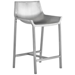 Emeco Sezz Counter Stool in Brushed Aluminum by Christophe Pillet