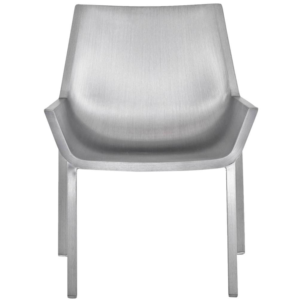 Emeco Sezz Lounge Chair in Brushed Aluminum by Christophe Pillet
